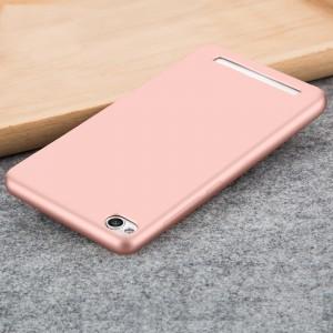 Силиконовый матовый непрозрачный чехол для Xiaomi RedMi 4A Розовый