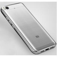 Силиконовый матовый полупрозрачный чехол с текстурным покрытием Металлик для Xiaomi Mi5S  Серый