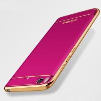 Силиконовый матовый непрозрачный чехол с текстурным покрытием Кожа для Xiaomi Mi5S Пурпурный