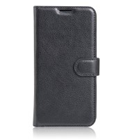 Чехол портмоне подставка на силиконовой основе на магнитной защелке для Xiaomi Mi5S Черный