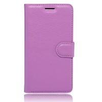 Чехол портмоне подставка на силиконовой основе на магнитной защелке для Xiaomi Mi5S Фиолетовый