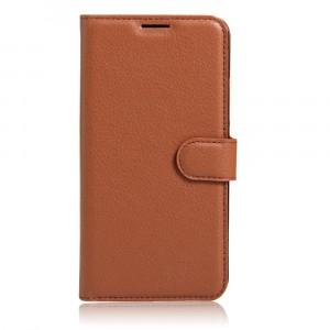 Чехол портмоне подставка на силиконовой основе на магнитной защелке для Xiaomi Mi5S Коричневый