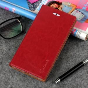 Винтажный чехол горизонтальная книжка подставка на силиконовой основе с отсеком для карт на присосках для Xiaomi Mi5S Красный