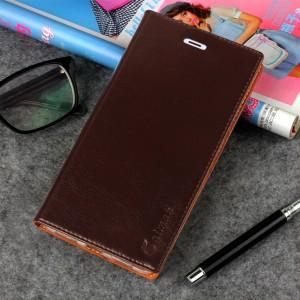 Винтажный чехол горизонтальная книжка подставка на силиконовой основе с отсеком для карт на присосках для Xiaomi Mi5S Коричневый