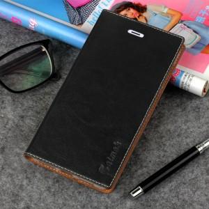 Винтажный чехол горизонтальная книжка подставка на силиконовой основе с отсеком для карт на присосках для Xiaomi Mi5S Черный