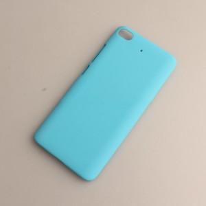 Пластиковый непрозрачный матовый чехол для Xiaomi Mi5S Голубой