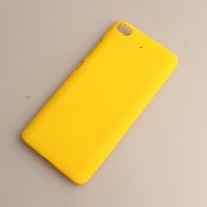 Пластиковый непрозрачный матовый чехол для Xiaomi Mi5S Желтый