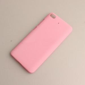 Пластиковый непрозрачный матовый чехол для Xiaomi Mi5S Розовый