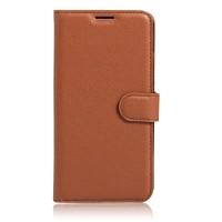 Чехол портмоне подставка на силиконовой основе на магнитной защелке для Xiaomi Mi5S Plus  Коричневый