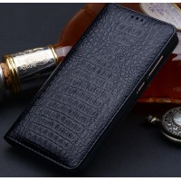 Кожаный чехол горизонтальная книжка (премиум нат. кожа крокодила) для Xiaomi Mi5S Plus  Черный