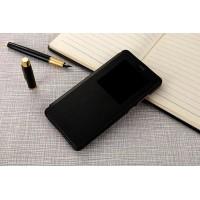 Чехол горизонтальная книжка подставка на пластиковой основе с окном вызова для Xiaomi Mi5S Plus  Черный