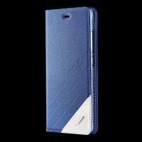 Чехол горизонтальная книжка подставка текстура Линии на силиконовой основе для Xiaomi Mi5S Plus Синий