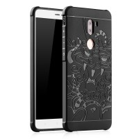 Силиконовый матовый непрозрачный чехол с текстурным покрытием Дракон для Xiaomi Mi5S Plus  Черный