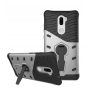 Противоударный двухкомпонентный силиконовый матовый непрозрачный чехол с поликарбонатными вставками экстрим защиты с встроенной ножкой-подставкой для Xiaomi Mi5S Plus