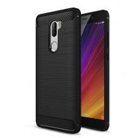 Силиконовый матовый непрозрачный чехол для Xiaomi Mi5S Plus Черный