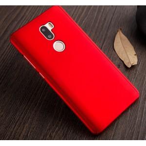 Пластиковый непрозрачный матовый чехол с улучшенной защитой элементов корпуса и передней панелью для Xiaomi Mi5S Plus  Красный