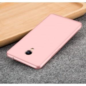 Силиконовый матовый непрозрачный чехол для Meizu M3E  Розовый