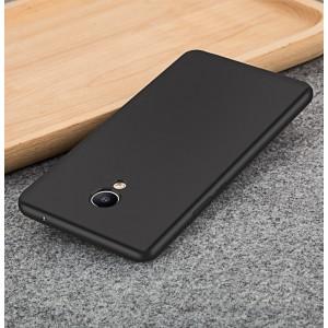 Силиконовый матовый непрозрачный чехол для Meizu M3E  Черный