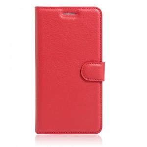 Чехол портмоне подставка на силиконовой основе на магнитной защелке для Meizu M3E  Красный