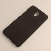Пластиковый непрозрачный матовый чехол для Meizu M3E  Черный