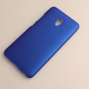 Пластиковый непрозрачный матовый чехол для Meizu M3E  Синий