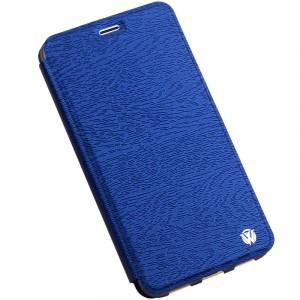 Чехол горизонтальная книжка подставка текстура Дерево на силиконовой основе для Meizu M3E Синий