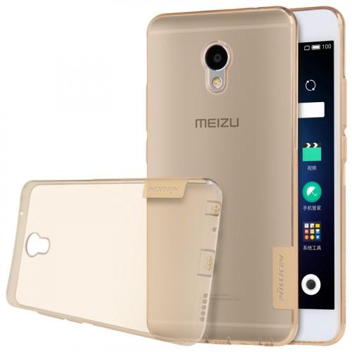 Силиконовый матовый полупрозрачный чехол с улучшенной защитой элементов корпуса (заглушки) для Meizu M3E