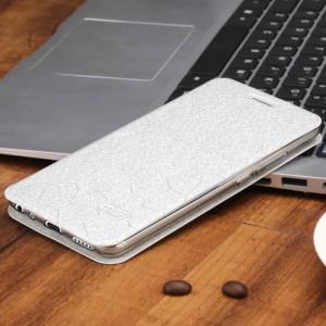 Чехол горизонтальная книжка подставка текстура Соты на силиконовой основе на магнитной защелке для Meizu M3E