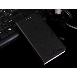 Чехол горизонтальная книжка подставка текстура Линии на пластиковой основе с отсеком для карт для Meizu U10  Черный