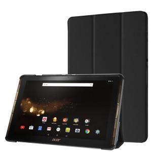 Сегментарный чехол книжка подставка на непрозрачной поликарбонатной основе для Acer Iconia Tab 10 A3-A40 Черный