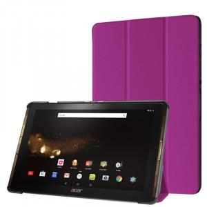 Сегментарный чехол книжка подставка на непрозрачной поликарбонатной основе для Acer Iconia Tab 10 A3-A40 Фиолетовый
