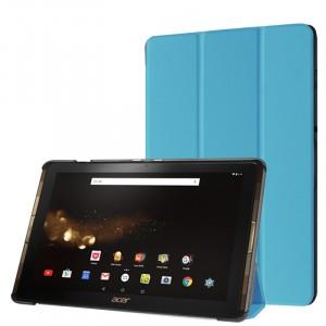 Сегментарный чехол книжка подставка на непрозрачной поликарбонатной основе для Acer Iconia Tab 10 A3-A40 Голубой
