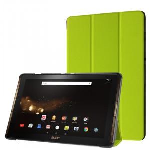 Сегментарный чехол книжка подставка на непрозрачной поликарбонатной основе для Acer Iconia Tab 10 A3-A40 Зеленый