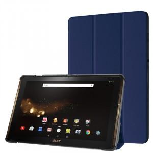 Сегментарный чехол книжка подставка на непрозрачной поликарбонатной основе для Acer Iconia Tab 10 A3-A40 Синий