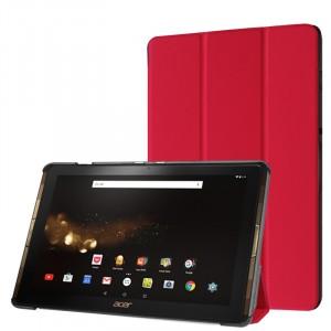Сегментарный чехол книжка подставка на непрозрачной поликарбонатной основе для Acer Iconia Tab 10 A3-A40 Красный