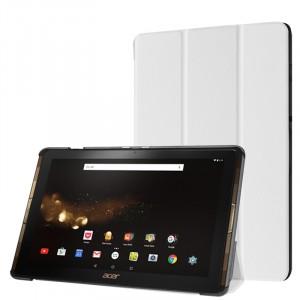 Сегментарный чехол книжка подставка на непрозрачной поликарбонатной основе для Acer Iconia Tab 10 A3-A40 Белый