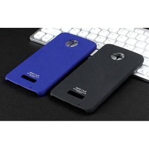 Пластиковый непрозрачный матовый чехол с повышенной шероховатостью для Lenovo Moto Z Play