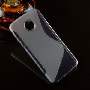Силиконовый матовый полупрозрачный чехол с нескользящими гранями и дизайнерской текстурой S для Lenovo Moto Z Play