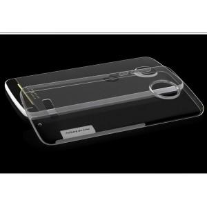 Силиконовый матовый полупрозрачный чехол с нескользящими гранями и улучшенной защитой элементов корпуса (заглушки) для Lenovo Moto Z Play