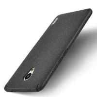 Пластиковый непрозрачный матовый чехол с улучшенной защитой элементов корпуса с повышенной шероховатостью для Meizu M3E Черный