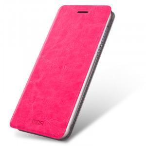 Глянцевый водоотталкивающий чехол горизонтальная книжка подставка на силиконовой основе для Meizu U10 Пурпурный