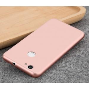 Силиконовый матовый непрозрачный чехол для Huawei Nova  Розовый