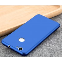 Силиконовый матовый непрозрачный чехол для Huawei Nova  Синий