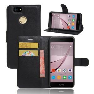 Чехол портмоне подставка на силиконовой основе на магнитной защелке для Huawei Nova