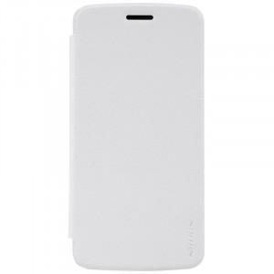 Чехол горизонтальная книжка на пластиковой нескользящей премиум основе для Lenovo Moto Z Play Белый