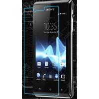 Ультратонкое износоустойчивое сколостойкое олеофобное защитное стекло-пленка для Sony Xperia J
