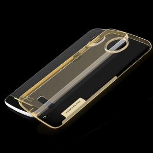 Силиконовый матовый полупрозрачный чехол с улучшенной защитой элементов корпуса (заглушки) для Lenovo Moto Z