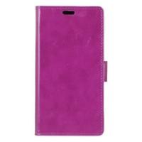 Глянцевый чехол горизонтальная книжка подставка на силиконовой основе с отсеком для карт на магнитной защелке для Lenovo K6 Note Фиолетовый