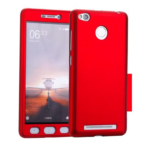 Пластиковый непрозрачный матовый чехол с улучшенной защитой элементов корпуса и экрана для Xiaomi Redmi 3S