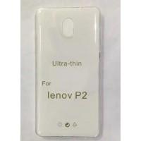 Силиконовый глянцевый транспарентный чехол для Lenovo P2